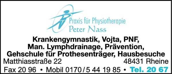Peter Nass Praxis für Physiotherapie